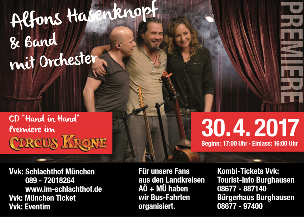 Alfons Hasenknopf Cirkus Krone Flyer