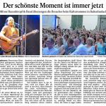 Artikel zu unserem Auftritt auf dem Kultursommer Raitenhaslach